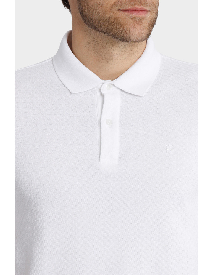 Short Sleeve Textured Polo image 3