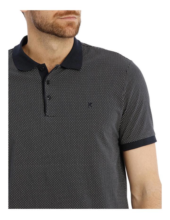 Almandin Dot Print Jersey Polo image 4