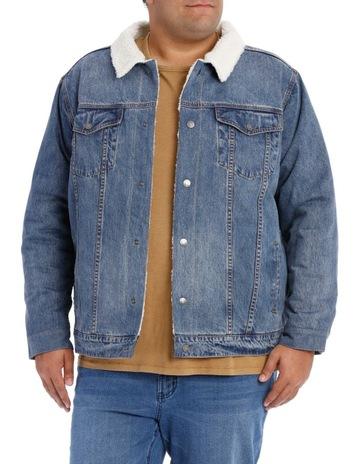 b663022998146 JACK STONE 3XL-7XLHawkers Denim Sherpa Jacket