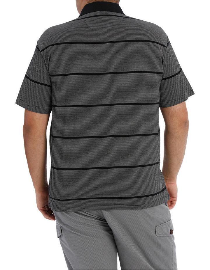 Short Sleeve Fine Stripe Polo image 3
