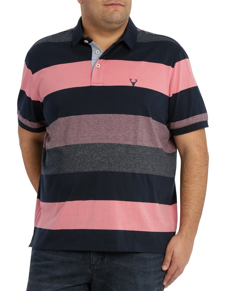 Hocking Mercerised Block Stripe Polo image 1