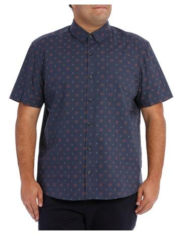 b5f4cfd04596b JACK STONE 3XL-7XLLeft Barrel Printed Short Sleeve Shirt