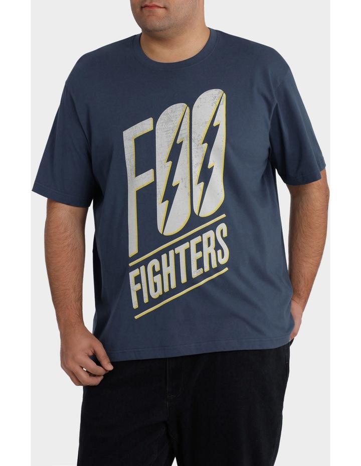 "Crew Neck ""Foo Fighters"" Print Tee image 1"