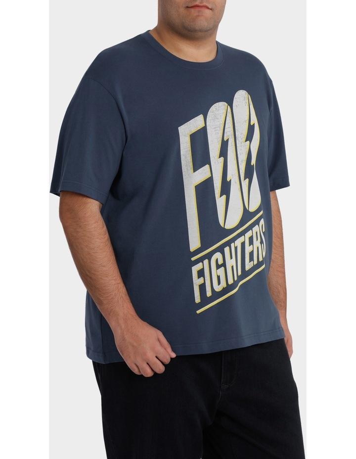"Crew Neck ""Foo Fighters"" Print Tee image 2"