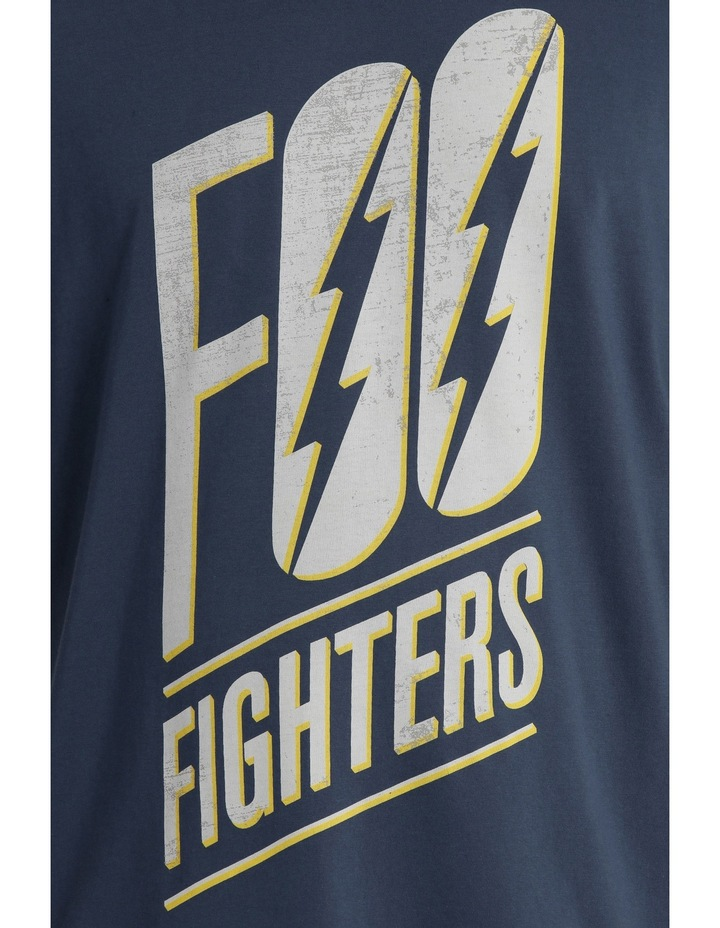 "Crew Neck ""Foo Fighters"" Print Tee image 4"