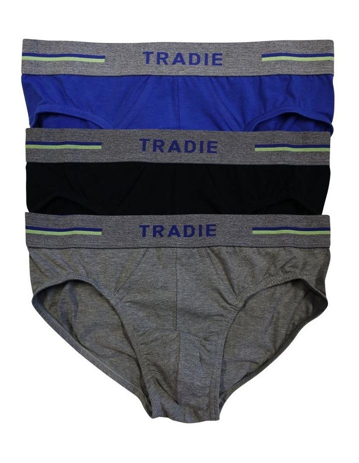 3 Pack Organic Cotton Plain Brief image 1