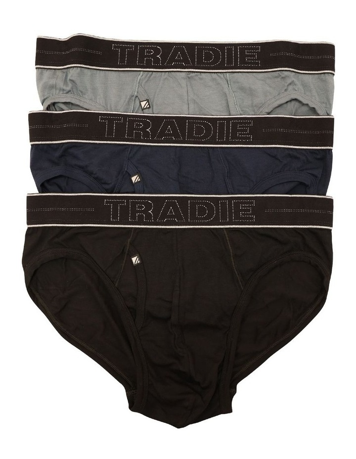 3 Pack Bamboo Plain Brief image 1