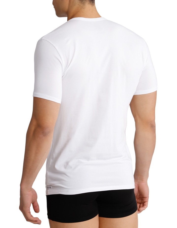 Cotton Stretch Crew Neck 2 Pack T Shirt image 2