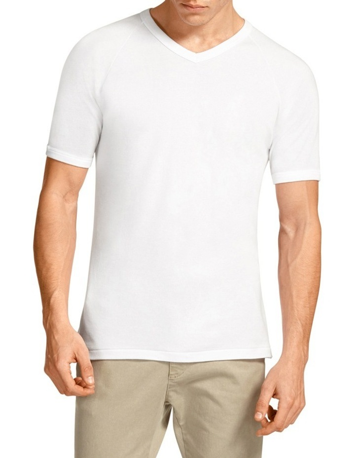 V-Neck Raglan Short Sleeve T-Shirt image 1