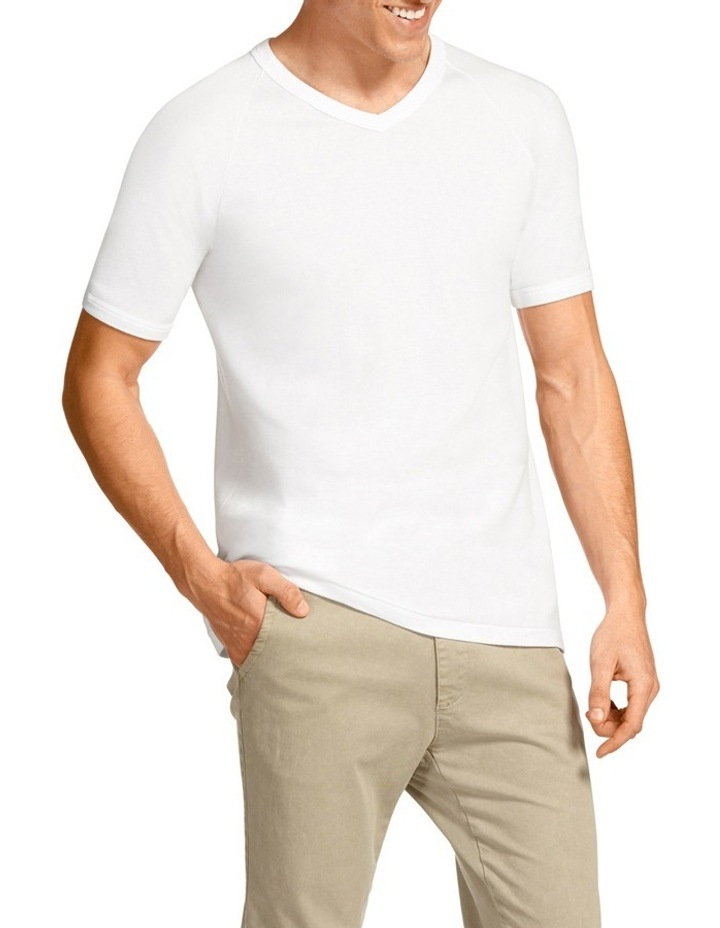V-Neck Raglan Short Sleeve T-Shirt image 2