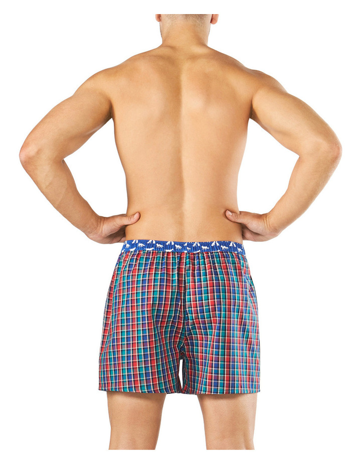 Originals Regal Check Contrast Yarn Dyed Boxer Short Assorted Q2001 image 3