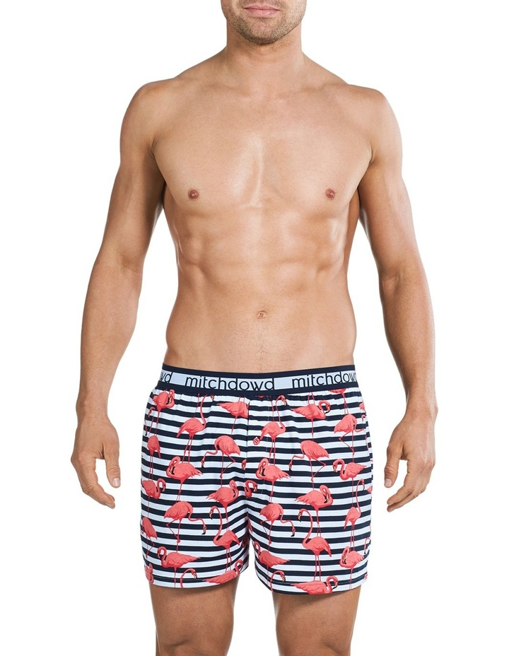 Originals Flamingo Stripe Loose Fit Knit Boxer Short image 1