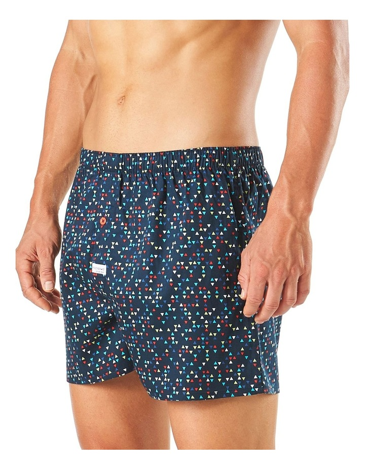 Geo Triangles Soft Wash Printed Boxer Short image 2