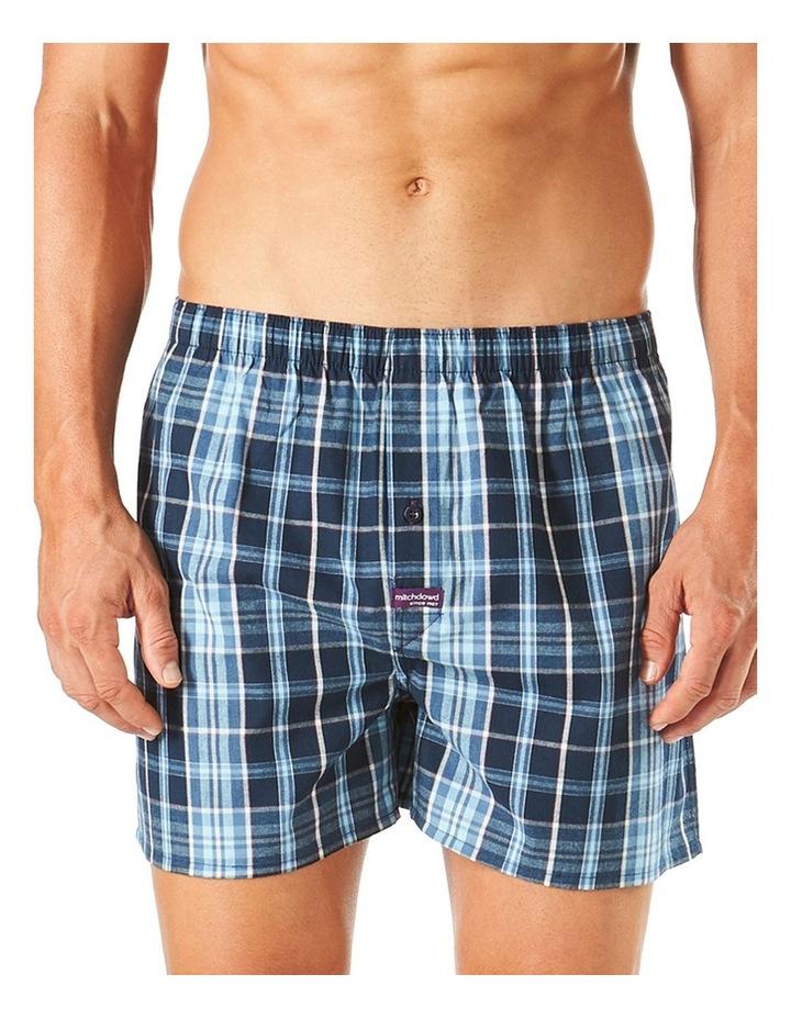 Hugh Check Yarn Dyed Stretch Boxer Short image 1