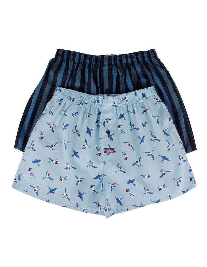 2 Pack Bluebirds Boxer Shorts image 1