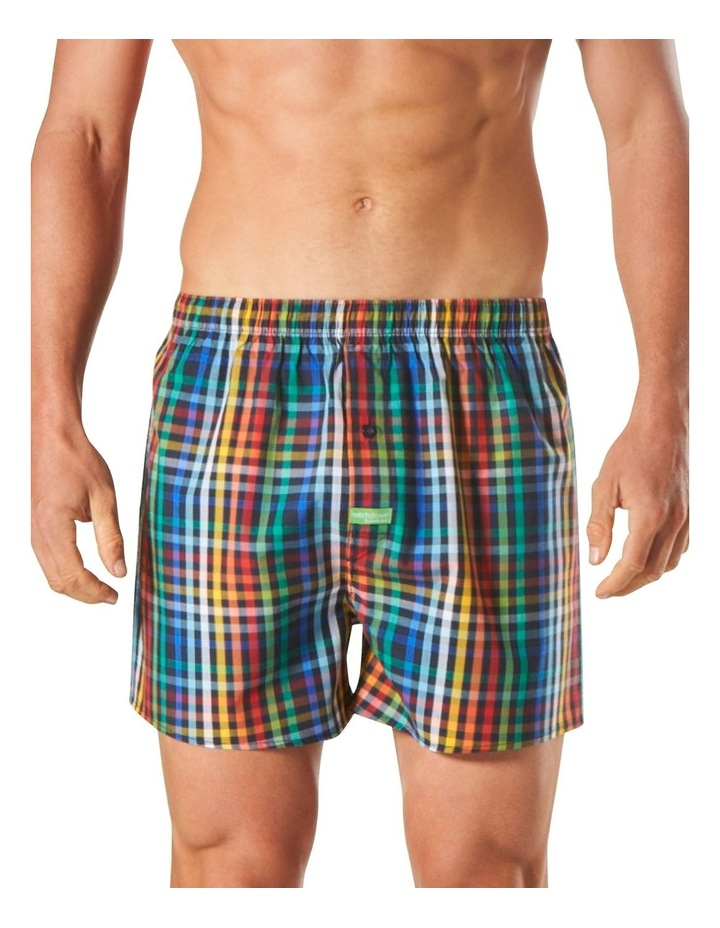 Colours Check Bamboo Blend Yarn Dyed Boxer Short image 1