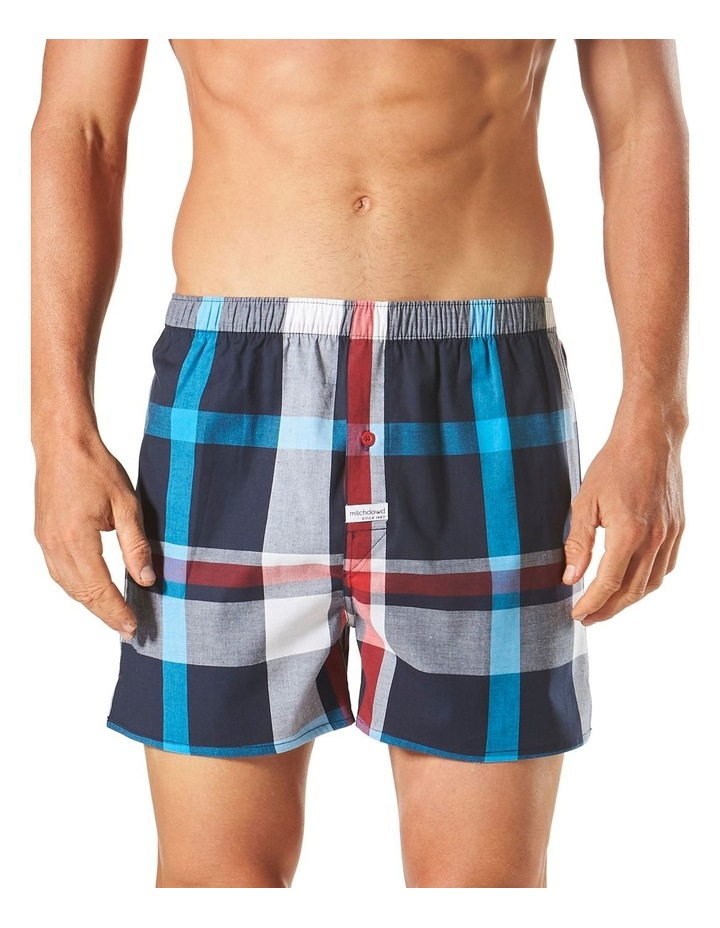 Aegean Check Yarn Dyed Stretch Boxer Short image 1