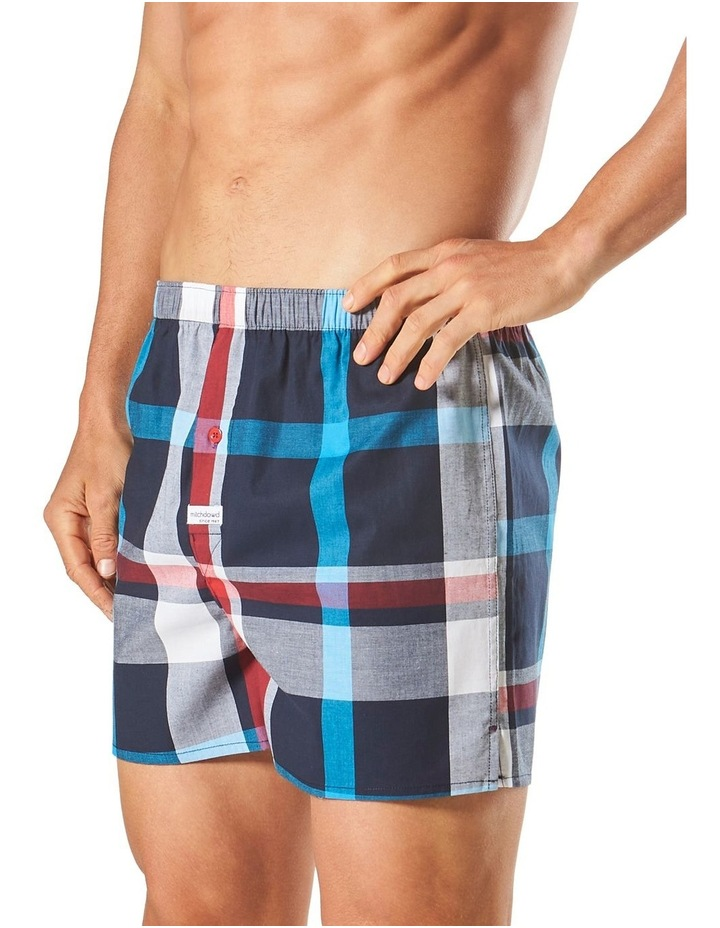 Aegean Check Yarn Dyed Stretch Boxer Short image 2