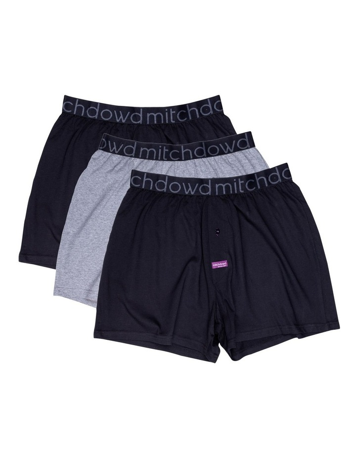 3 Pack Loose Fit Knit Boxers image 1