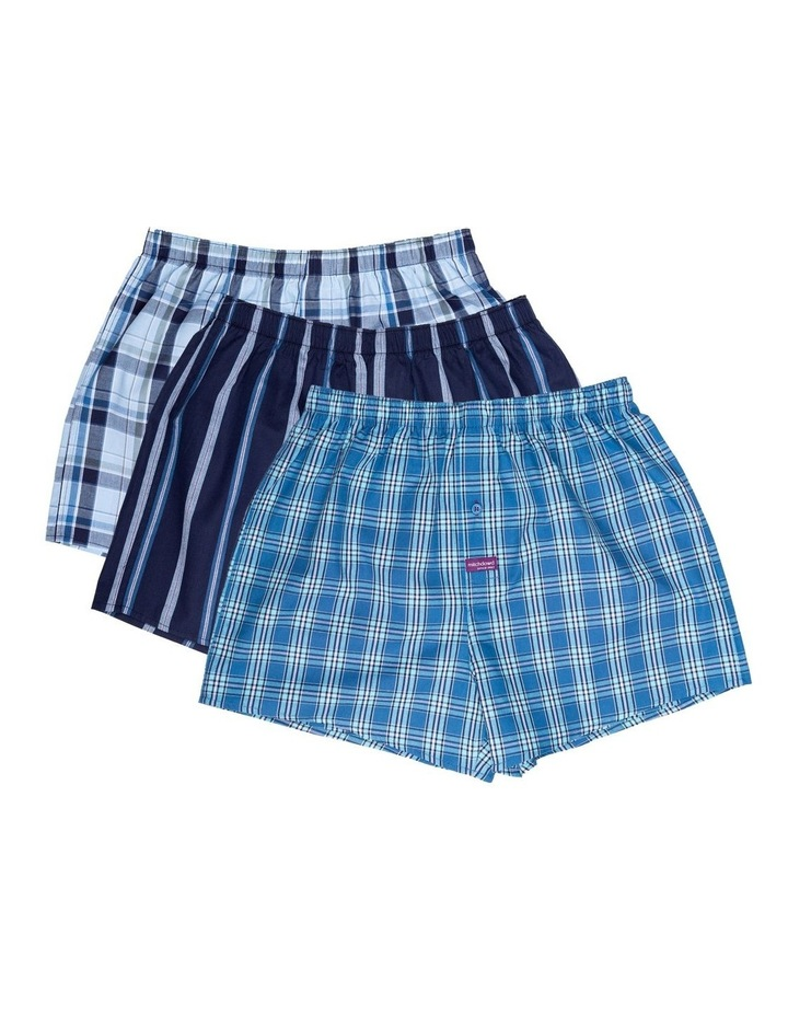 3 Pack Woven Boxers Blue image 1