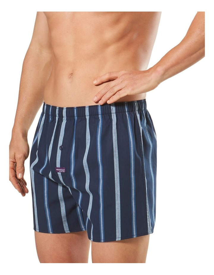 3 Pack Woven Boxers Blue image 3