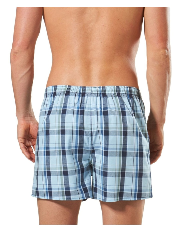 3 Pack Woven Boxers Blue image 4
