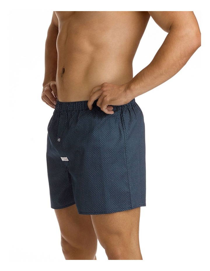Coby Navy Printed Soft Wash Boxer image 2