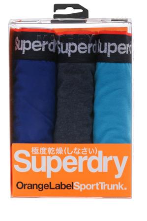 Superdry - Orange Label 3 Pack Trunks