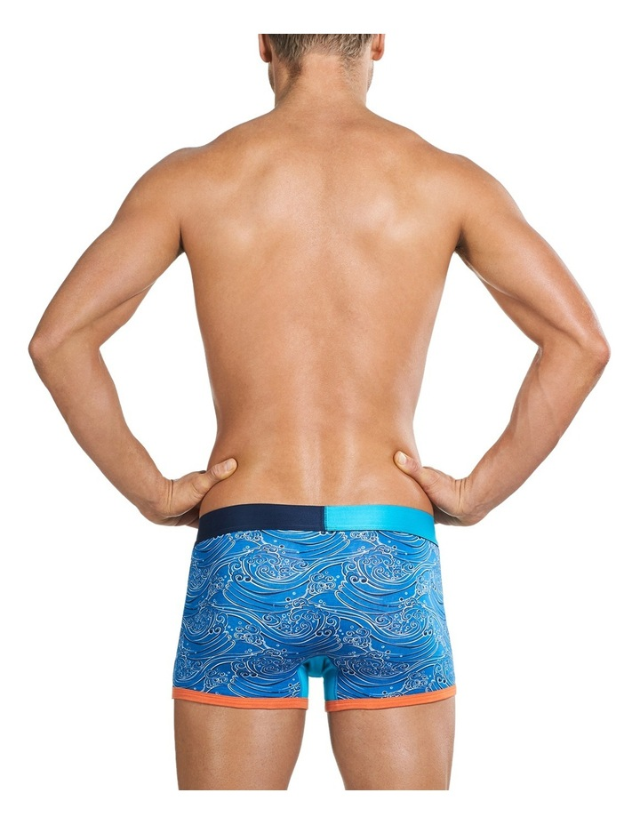 Contrast Great Wave Printed Fitted Trunk image 3
