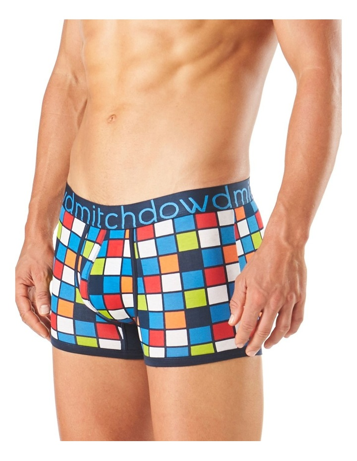 Checker Printed Fitted Trunk image 2