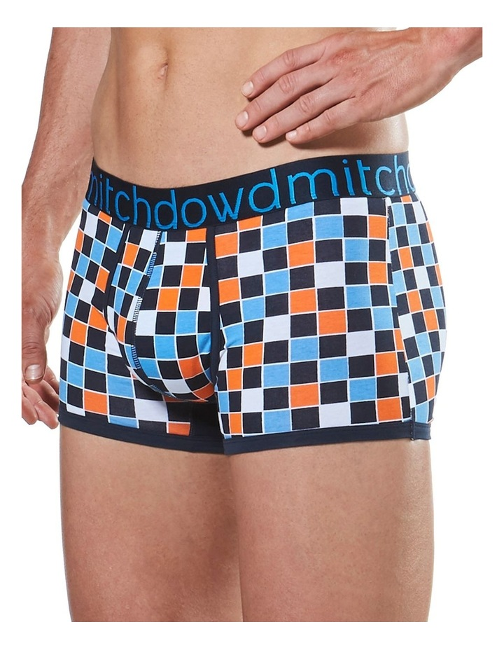 Harliquin Checker Printed Fitted Trunk image 2
