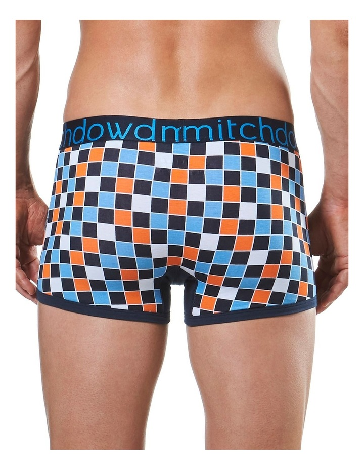 Harliquin Checker Printed Fitted Trunk image 3