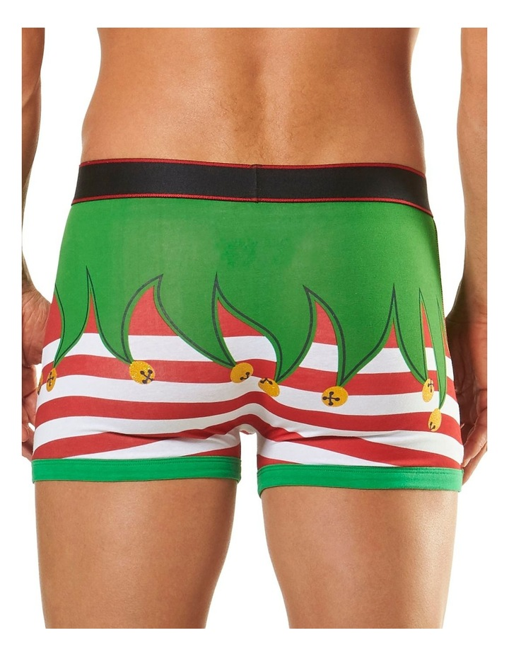 Elf Novelty Printed Trunk with Elf Hat image 3