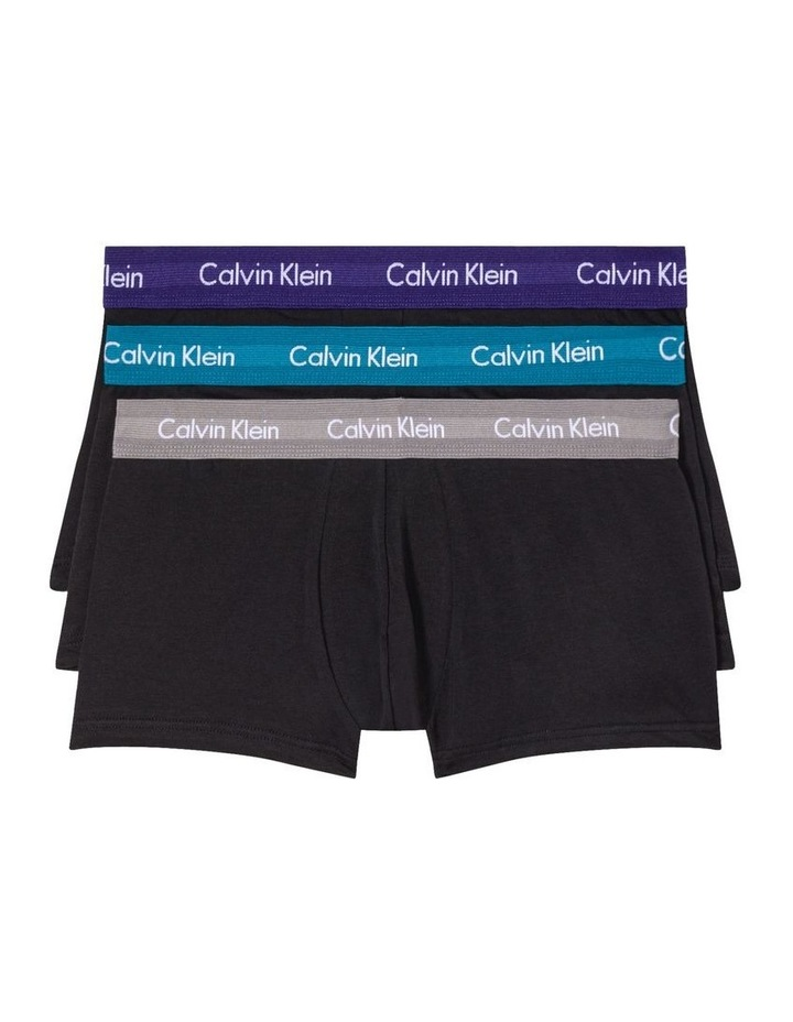 Cotton Stretch 3 Pack Trunks image 1