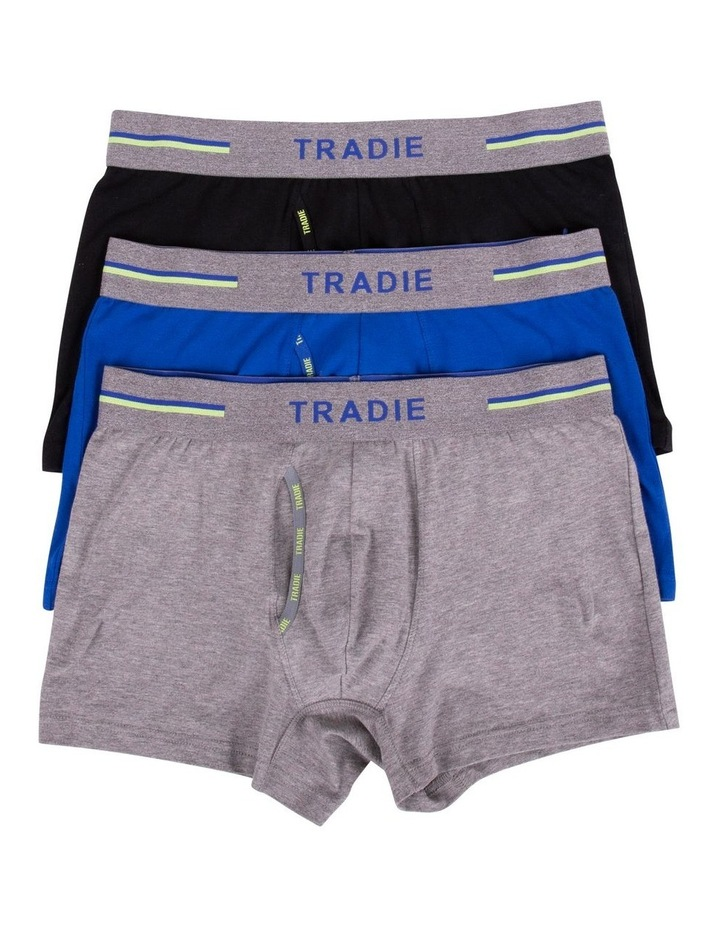 Organic Cotton 3 Pack Plain Trunks image 1
