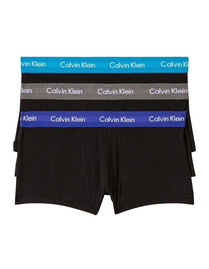 Cotton Stretch 3 Pk Low Rise Trunks image 1