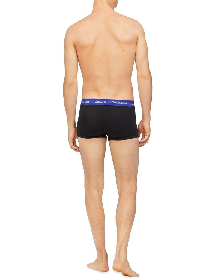 Cotton Stretch 3 Pk Low Rise Trunks image 3