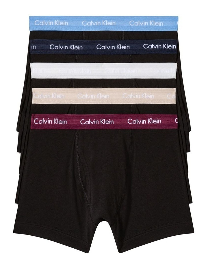 Cotton Stretch 5 Pack Low Rise Trunks image 1