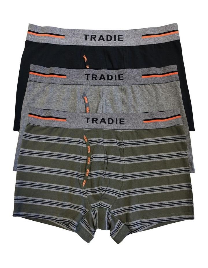3 Pack Organic Cotton Stripe Trunk image 1