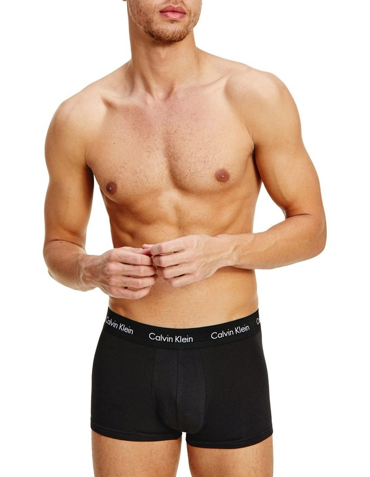 Cotton Stretch 3 Pack Low Rise Trunks image 5