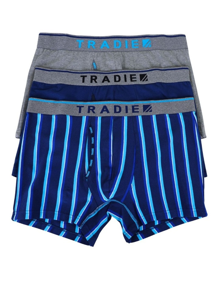3 Pack Organic Cotton Stripe Trunks image 1