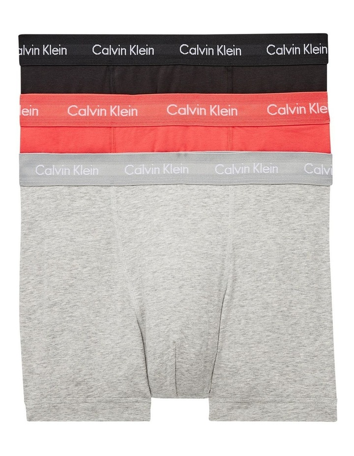3 Pack Cotton Stretch Trunks image 1