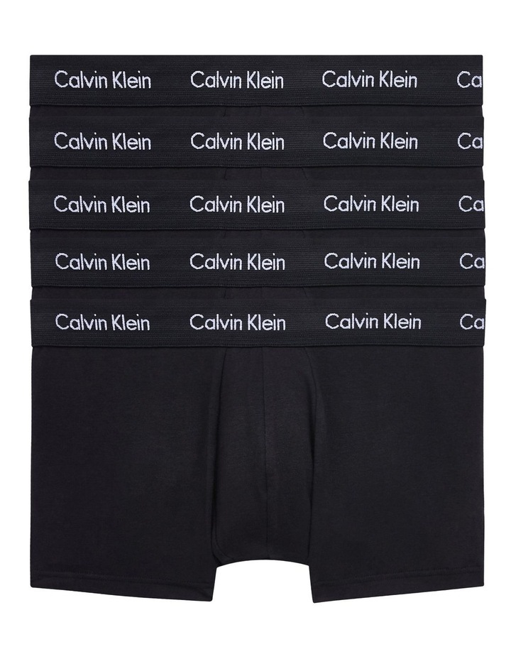 5 Pack Cotton Stretch Low Rise Trunks image 1