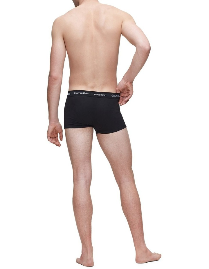 5 Pack Cotton Stretch Low Rise Trunks image 3