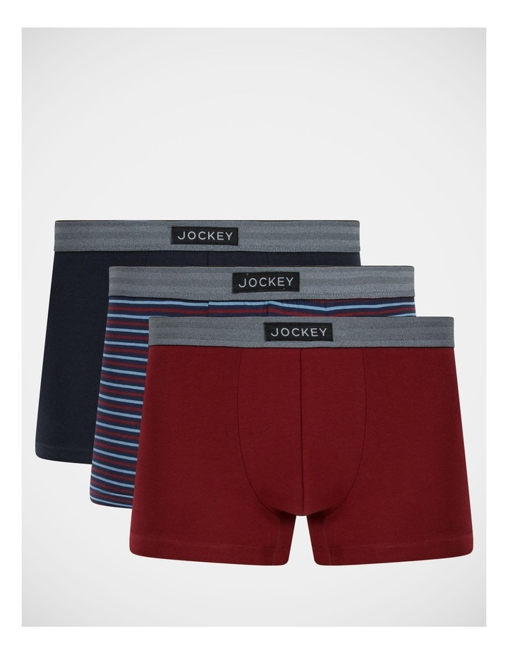 3 Pack Everyday Comfort Classic Trunks image 1