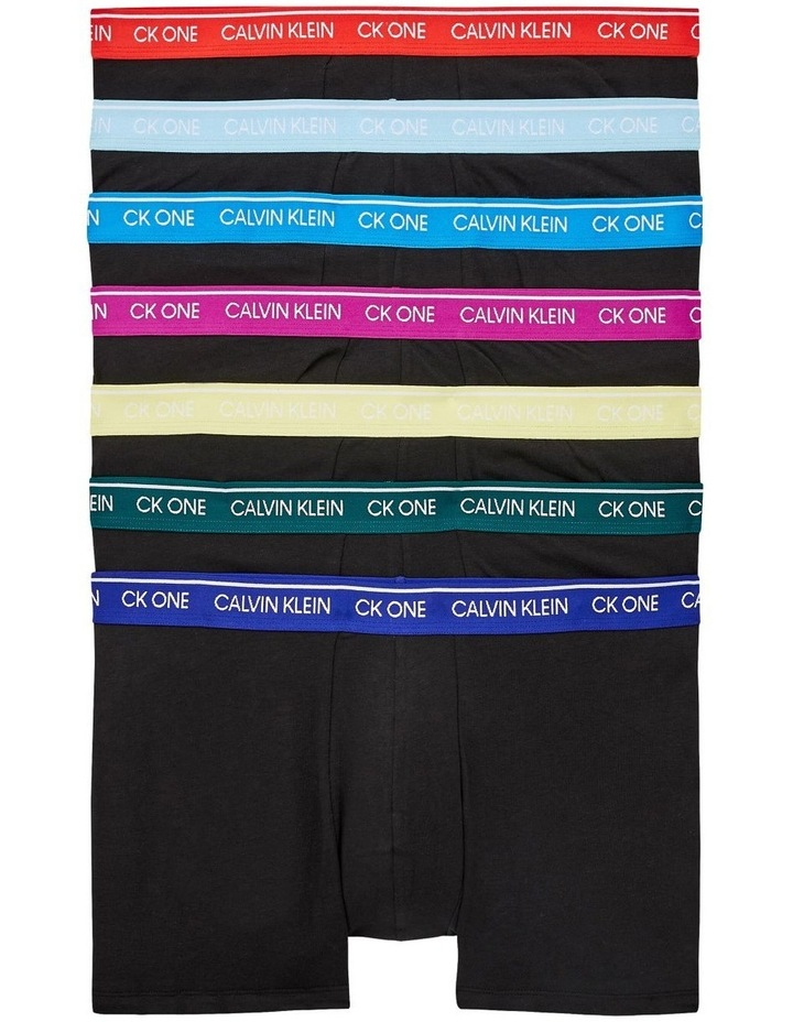 7 Pack Ck One Cotton Stretch Trunks image 1