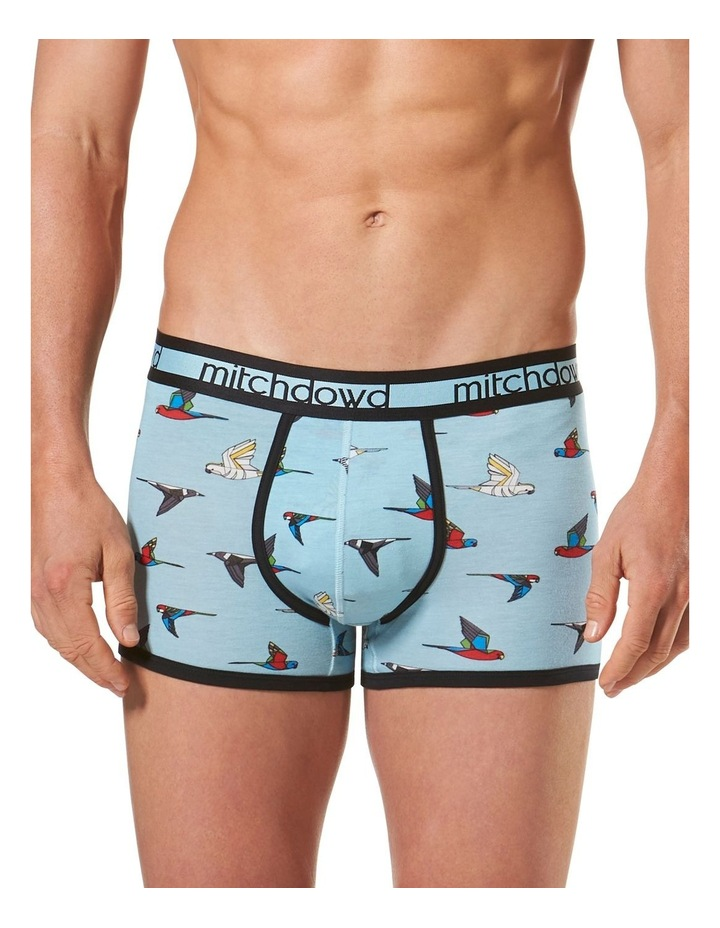 Aussie Birds Printed Bamboo Blend Fitted Trunk image 1
