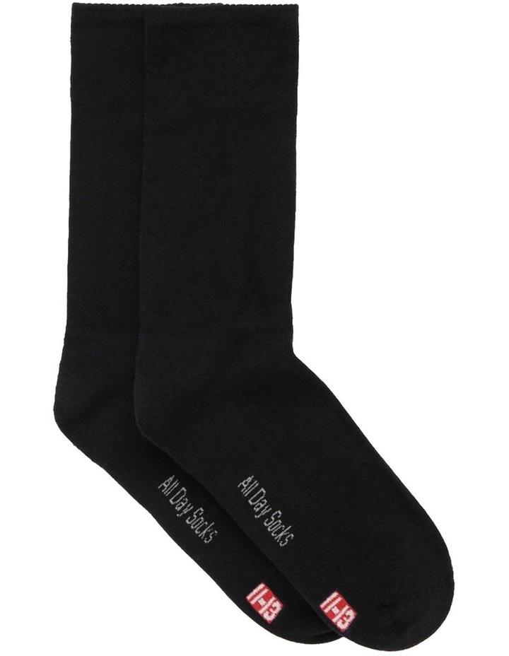 2-Pack Plain Fine Cotton Socks image 1