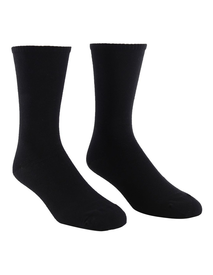 2-Pack Plain Fine Cotton Socks image 3