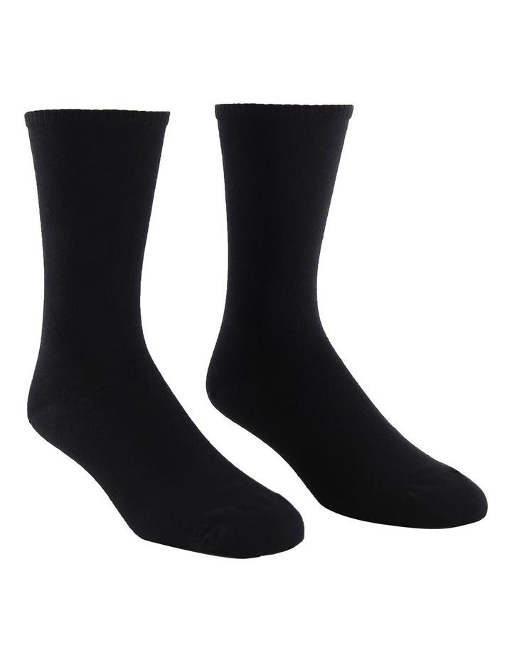 2-Pack Plain Fine Cotton Socks image 2